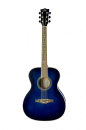 Eko NXT 018 Acoustic Guitar in Blue Sunburst with Bag